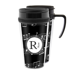 Musical Notes Acrylic Travel Mugs (Personalized)
