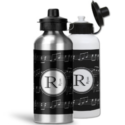 Musical Notes Water Bottles- Aluminum (Personalized)