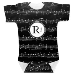 Musical Notes Baby Bodysuit (Personalized)