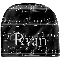 Musical Notes Baby Hat (Beanie) (Personalized)