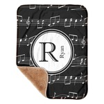 """Musical Notes Sherpa Baby Blanket 30"""" x 40"""" (Personalized)"""