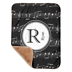 "Musical Notes Sherpa Baby Blanket 30"" x 40"" (Personalized)"