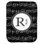 Musical Notes Baby Swaddling Blanket (Personalized)