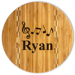 Musical Notes Bamboo Cutting Board (Personalized)