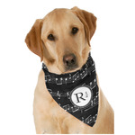 Musical Notes Dog Bandana Scarf w/ Name and Initial