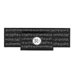 Musical Notes Bar Mat (Personalized)