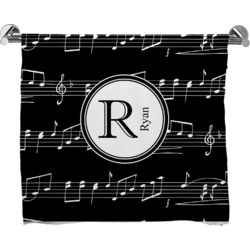 Musical Notes Bath Towel (Personalized)