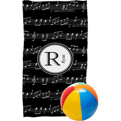 Musical Notes Beach Towel (Personalized)