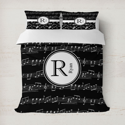Musical Notes Duvet Cover (Personalized)