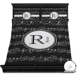 Musical Notes Duvet Cover Set (Personalized)