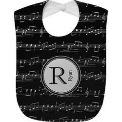 Musical Notes Baby Bib (Personalized)