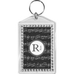 Musical Notes Bling Keychain (Personalized)