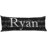Musical Notes Body Pillow Case (Personalized)