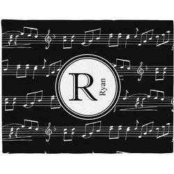 Musical Notes Woven Fabric Placemat - Twill w/ Name and Initial
