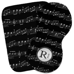 Musical Notes Burp Cloth (Personalized)