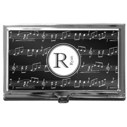 Musical Notes Business Card Case