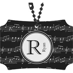 Musical Notes Rear View Mirror Ornament (Personalized)