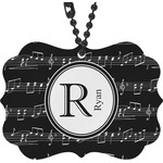 Musical Notes Rear View Mirror Charm (Personalized)