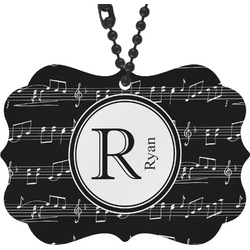 Musical Notes Rear View Mirror Decor (Personalized)