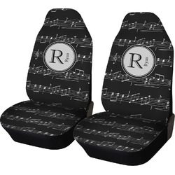 Musical Notes Car Seat Covers (Set of Two) (Personalized)