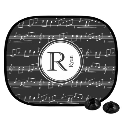 Musical Notes Car Side Window Sun Shade (Personalized)