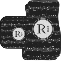 Musical Notes Car Floor Mats Set - 2 Front & 2 Back (Personalized)