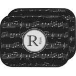 Musical Notes Car Floor Mats (Back Seat) (Personalized)
