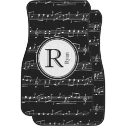 Musical Notes Car Floor Mats (Front Seat) (Personalized)