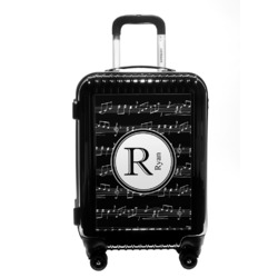 Musical Notes Carry On Hard Shell Suitcase (Personalized)