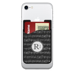 Musical Notes 2-in-1 Cell Phone Credit Card Holder & Screen Cleaner (Personalized)