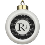 Musical Notes Ceramic Ball Ornament (Personalized)