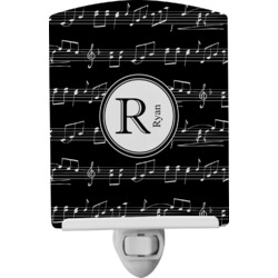 Musical Notes Ceramic Night Light (Personalized)