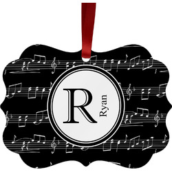 Musical Notes Ornament (Personalized)
