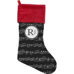 Musical Notes Christmas Stocking (Personalized)