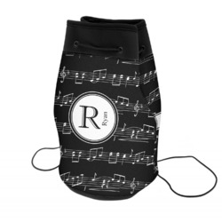 Musical Notes Neoprene Drawstring Backpack (Personalized)