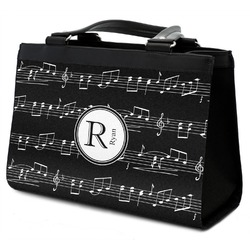 Musical Notes Classic Tote Purse w/ Leather Trim (Personalized)