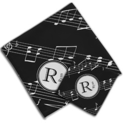 Musical Notes Cloth Napkin w/ Name and Initial