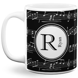 Musical Notes 11 Oz Coffee Mug - White (Personalized)
