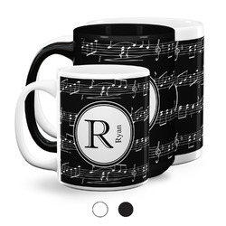 Musical Notes Coffee Mugs (Personalized)