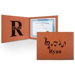 Musical Notes Leatherette Certificate Holder (Personalized)