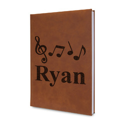 Musical Notes Leatherette Journal (Personalized)
