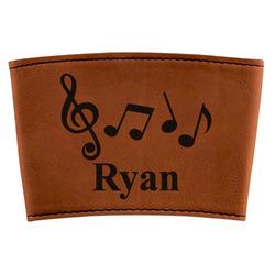 Musical Notes Leatherette Mug Sleeve (Personalized)