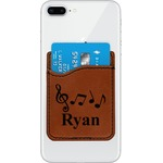 Musical Notes Leatherette Phone Wallet (Personalized)