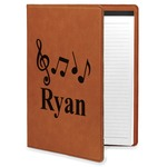 Musical Notes Leatherette Portfolio with Notepad (Personalized)