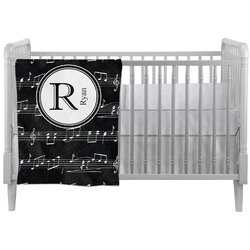 Musical Notes Crib Comforter / Quilt (Personalized)