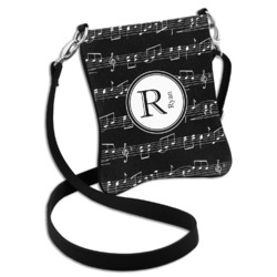 Musical Notes Cross Body Bag - 2 Sizes (Personalized)