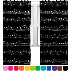 Musical Notes Curtains (2 Panels Per Set) (Personalized)