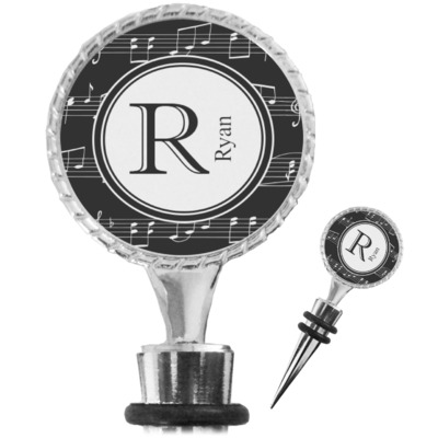 Musical Notes Wine Bottle Stopper (Personalized)