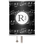 """Musical Notes 7"""" Drum Lamp Shade (Personalized)"""