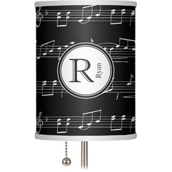 "Musical Notes 7"" Drum Lamp Shade (Personalized)"